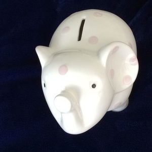 Ceramic Elephant Savings Bank      NWOT